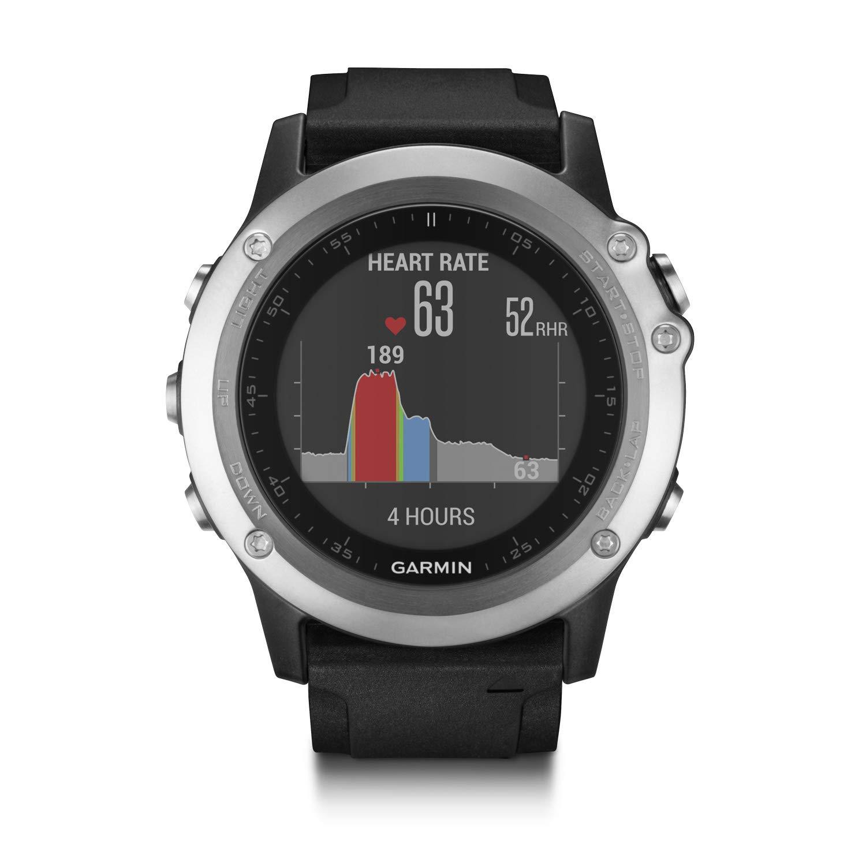 Garmin Fenix 3 Silver Edition with Black Silicone Band GPS Watch
