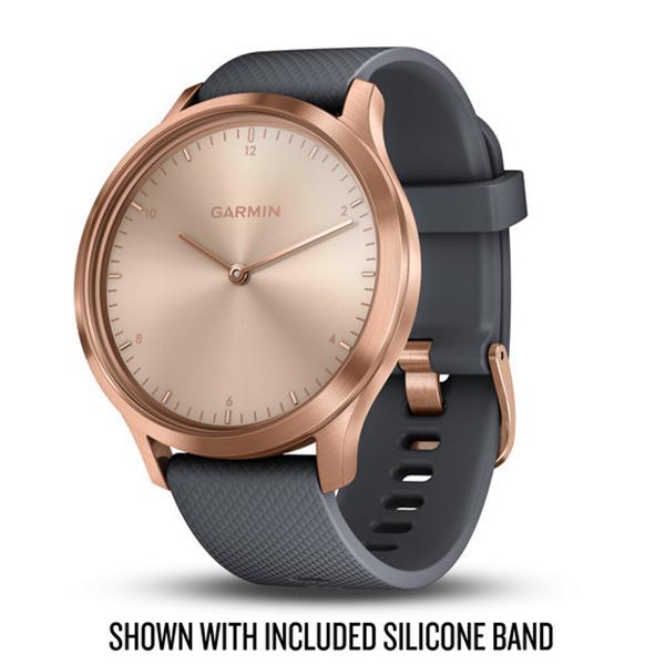 d3b688748 Garmin Vivomove HR Premium Rose-gold with Grey Suede Band GPS Watch ...