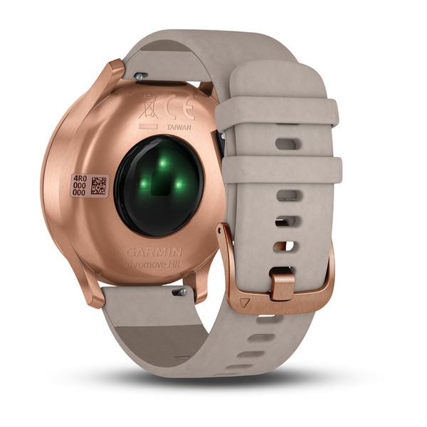 Garmin Vivomove HR Premium Rose-gold with Grey Suede Band GPS Watch
