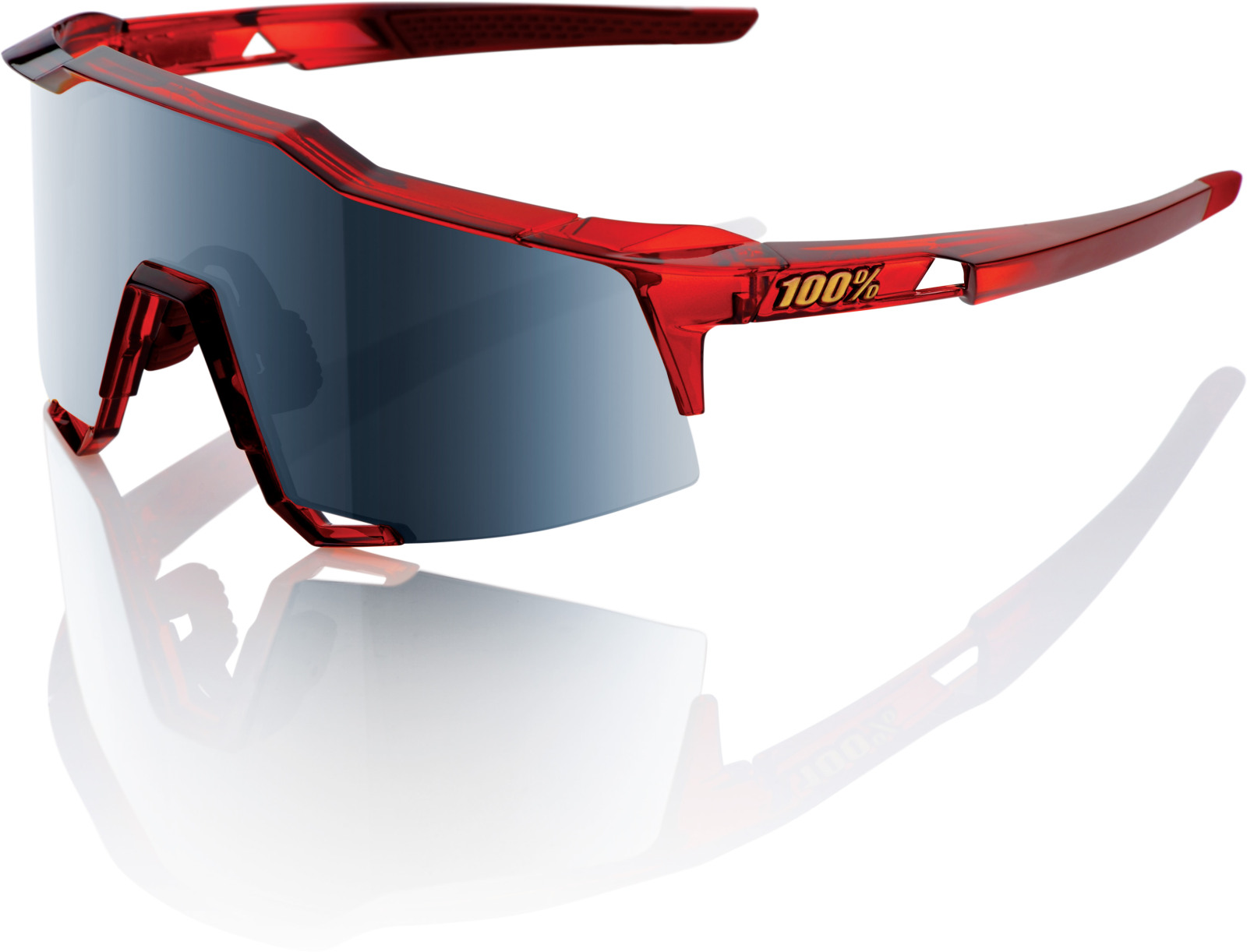 100% Speedcraft Black Mirrored Sunglasses